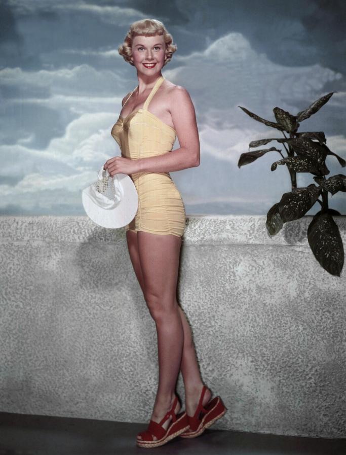 doris day in 1950, swimsuit, bathing suit