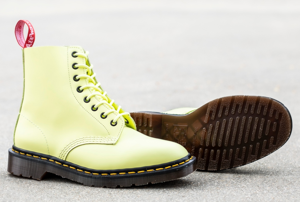 Dr. Martens x Undercover 1460 boots in pastel yellow