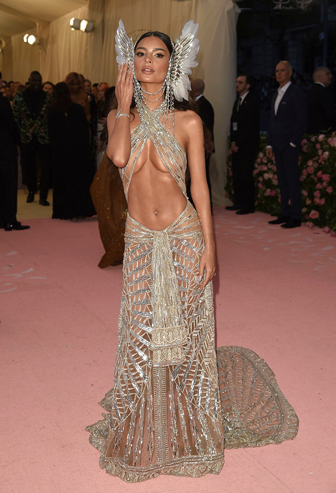 "Emily Ratajkowski attends The Metropolitan Museum of Art's Costume Institute benefit gala celebrating the opening of the ""Camp: Notes on Fashion"" exhibition, in New York2019 MET Museum Costume Institute Benefit Gala, New York, USA - 06 May 2019"