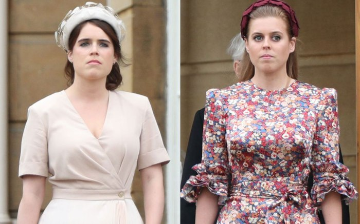 Princesses Eugenie Beatrice In Dresses And Heels At Garden Party