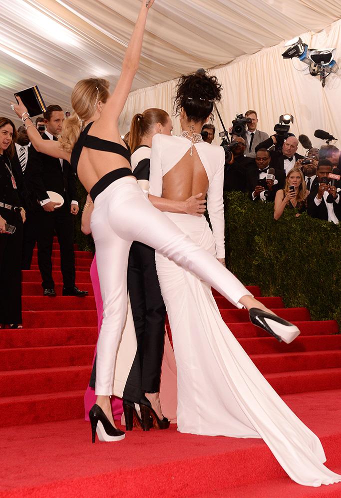 Cara Delevingne, Stella McCartney and RihannaCostume Institute Gala Benefit celebrating Charles James: Beyond Fashion, Metropolitan Museum of Art, New York, America - 05 May 2014