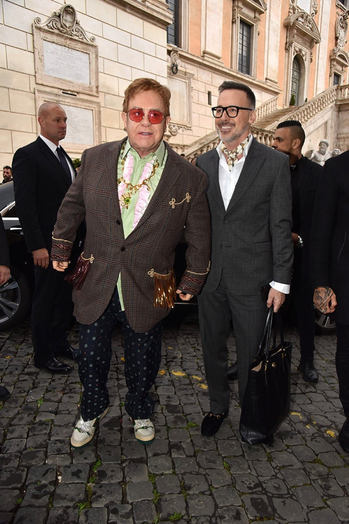 Sir Elton John with David FurnishGucci Cruise 2020 show, Arrivals, Rome, Italy - 28 May 2019