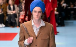 Model on the catwalk Gucci show,