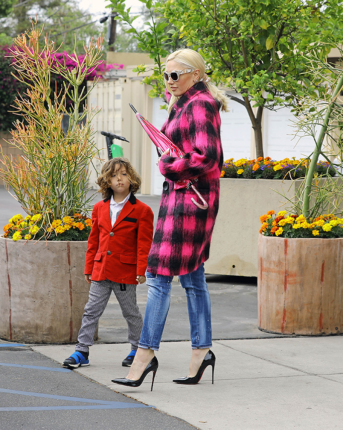 Gwen Stefani, apollo, christian louboutin so kate pumps, distressed jeans, pink and black checked coat, sunglasses, celebrity style, was spotted leaving church with her sons Kingston, Zuma, and Apollo on Mother's Day in Los Angeles, CA. After church the family headed to her parents house to continue the celebration.Pictured: Apollo Bowie Flynn Rossdale,Kingston Rossdale,Zuma Rossdale,Gwen StefaniRef: SPL5088886 120519 NON-EXCLUSIVEPicture by: SplashNews.comSplash News and PicturesLos Angeles: 310-821-2666New York: 212-619-2666London: 0207 644 7656Milan: 02 4399 8577photodesk@splashnews.comWorld RightsGwen Stefani attends Sunday service at Church on Mother's day along side her kids Zuma and Apollo and Visits her mother after.Pictured: Gwen StefaniRef: SPL5088884 120519 NON-EXCLUSIVEPicture by: SplashNews.comSplash News and PicturesLos Angeles: 310-821-2666New York: 212-619-2666London: 0207 644 7656Milan: 02 4399 8577photodesk@splashnews.comWorld Rights, No Brazil Rights