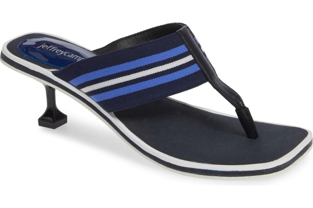 Jeffery Campbell Goalie Sport Slide Sandal, Jeffery Campbell, flip flop heels, thong heels, summer 2019 trends