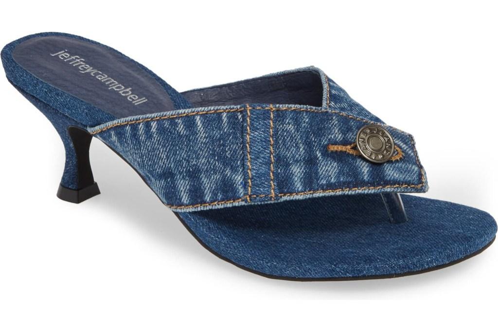 Jeffery Campbell Brink Slide Sandal, jeffery campbell, flip flop heel, thong heel, summer 2019 trends