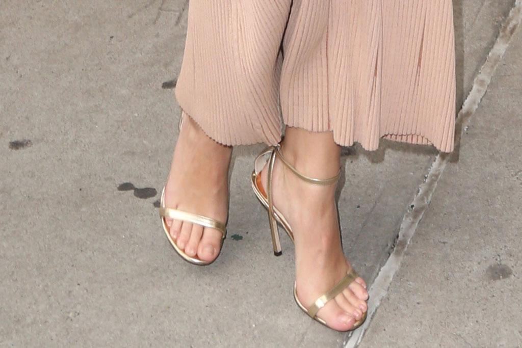 Emily Ratajkowski, dion lee fall 2019 dress, jimmy choo minny sandals, nude dress, celebrity style, Emily Ratajkwoski out and about, New York, USA - 23 May 2019