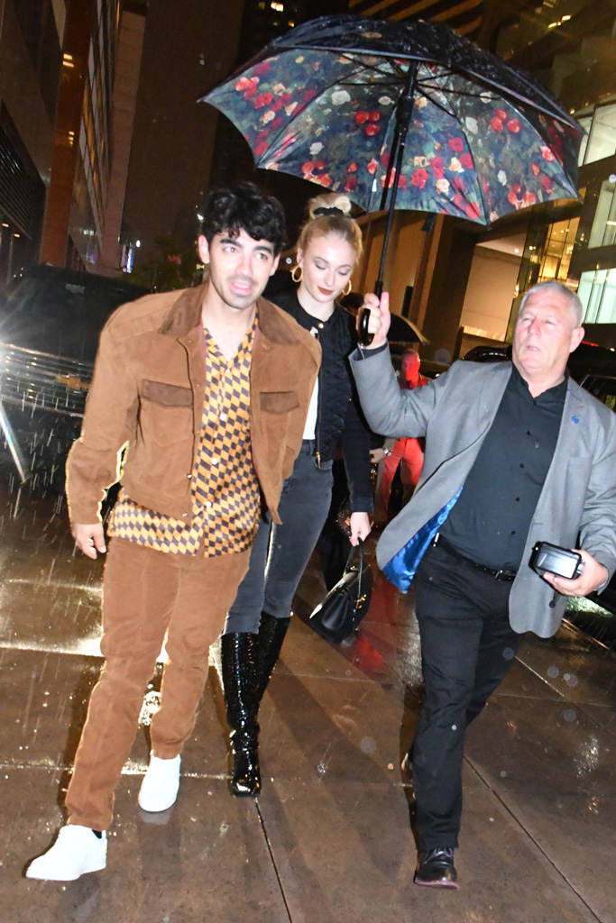 joe jonas, sophie turner, white sneakers, black boots, celebrity style, nyc, street style, saturday night live, snl after-party