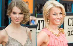 Taylor Swift (L) and Julianne Hough.,
