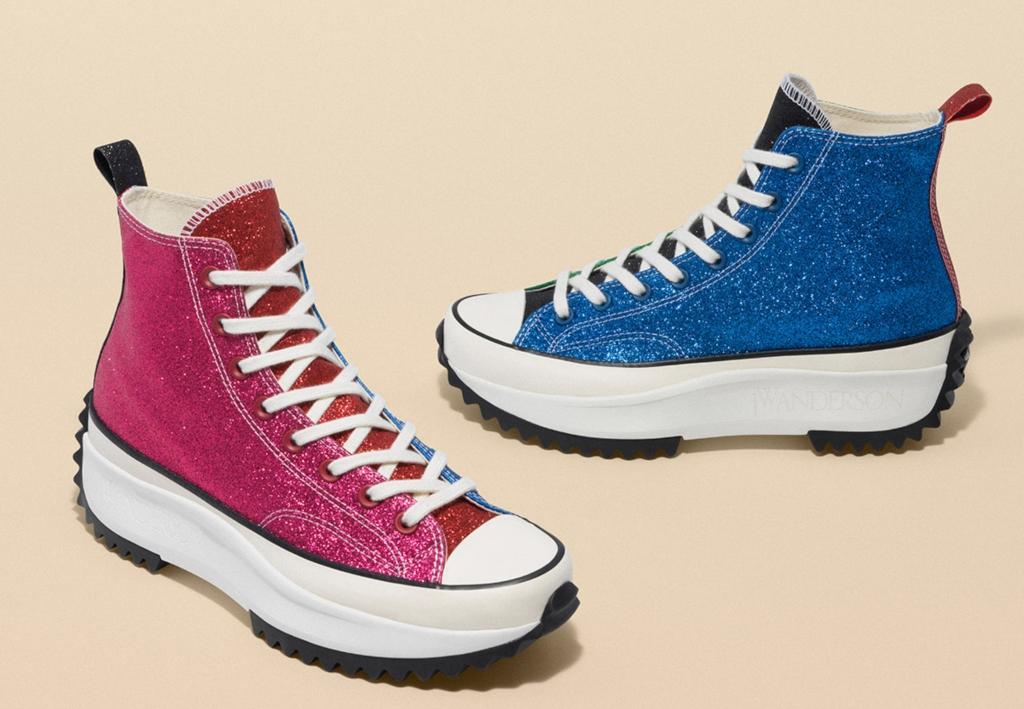 JW Anderson x Converse Run Star Hike glitter