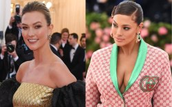 Karlie Kloss (L) and Ashley Graham,
