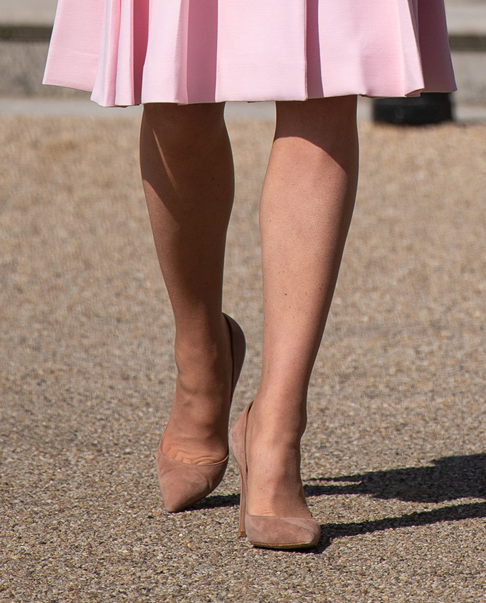 nude shoes, heels, suede, Prince William and Catherine Duchess of CambridgeGarden party at Buckingham Palace, London, UK - 21 May 2019