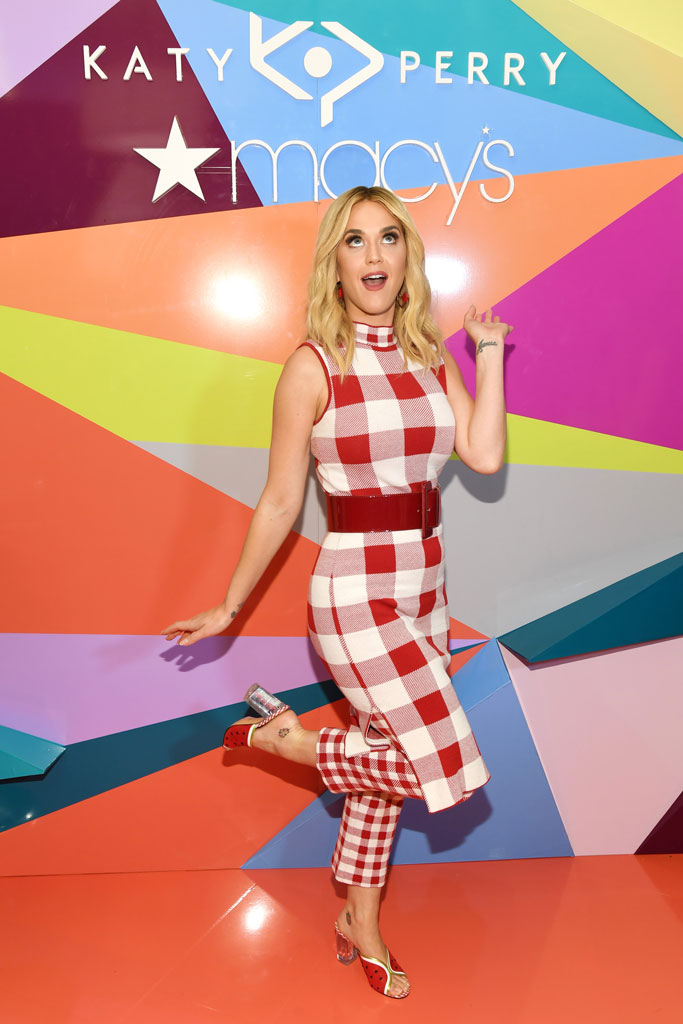 katy perry, macy's herald square, nyc, celebrity shoe style, katy perry collections, watermelon shoes