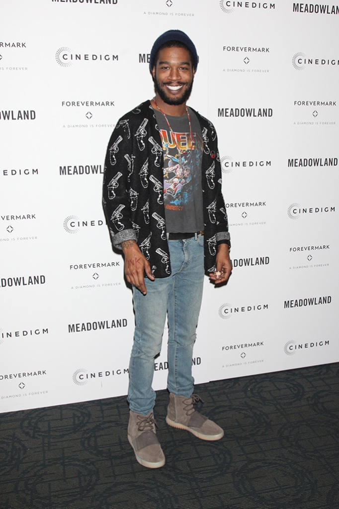 Kid Cud, Adidas Yeezy 750 Boost, celebrity style, i (aka Kid Cudi)'Meadowland' film screening, New York, America - 11 Oct 2015