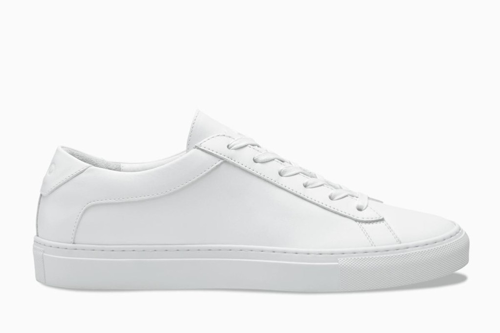 Koio Capri Triple White sneaker, shoes to wear with leopard print midi skirt trend, summer 2019 shoes, white sneakers, koio sneakers, summer shoes