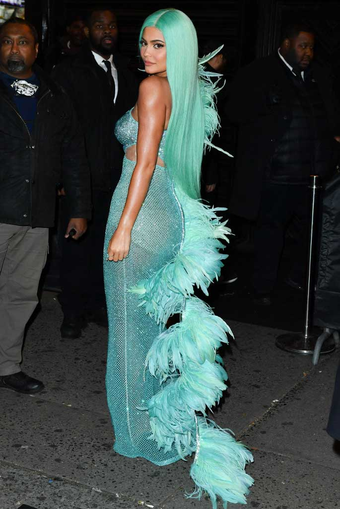 Kylie Jenner attends the Met Gala after party.