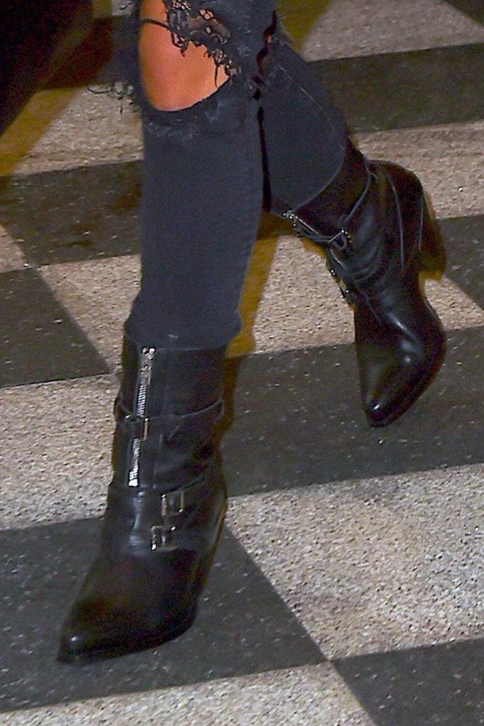 lady gaga, boots, celebrity style, celine, nyc