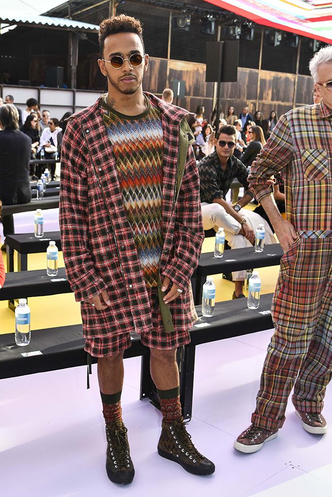 Lewis HamiltonMissoni show, Front Row, Spring Summer 2018, Milan Fashion Week, Italy - 23 Sep 2017