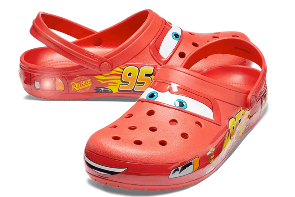 Crocs With Lightning McQueen of 'Cars