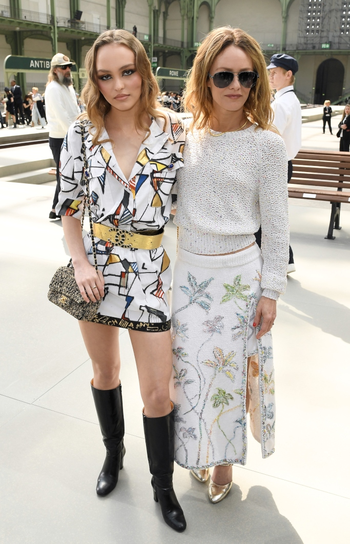 Lily-Rose Depp and Vanessa Paradis, chanel cruise 2020 show