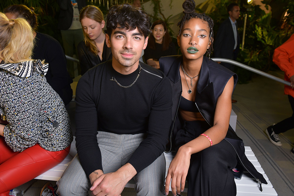 Joe Jonas and Willow Smith in the front rowLouis Vuitton Cruise 2020 show, Front Row, Trans World Airlines Flight Center, John F. Kennedy International Airport, New York, USA - 08 May 2019