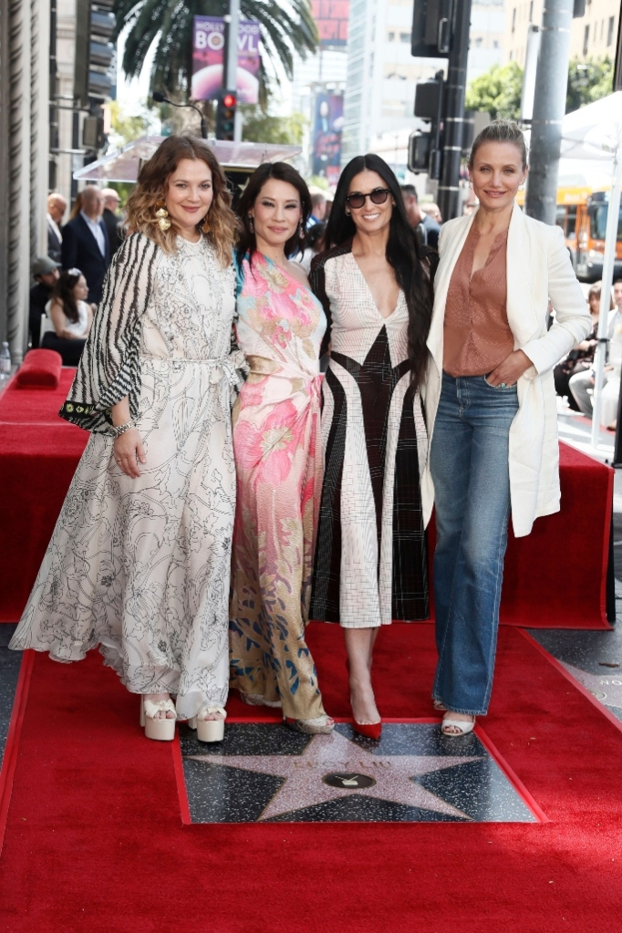 lucy liu, hollywood walk of fame, star of fame, drew barrymore, demi more, cameron diaz, charlie's angels