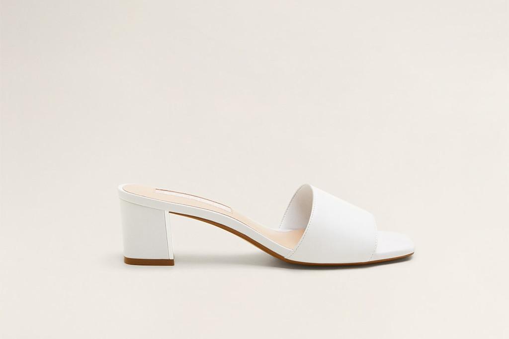 Heel leather sandals, mom mules, mango, spring 19