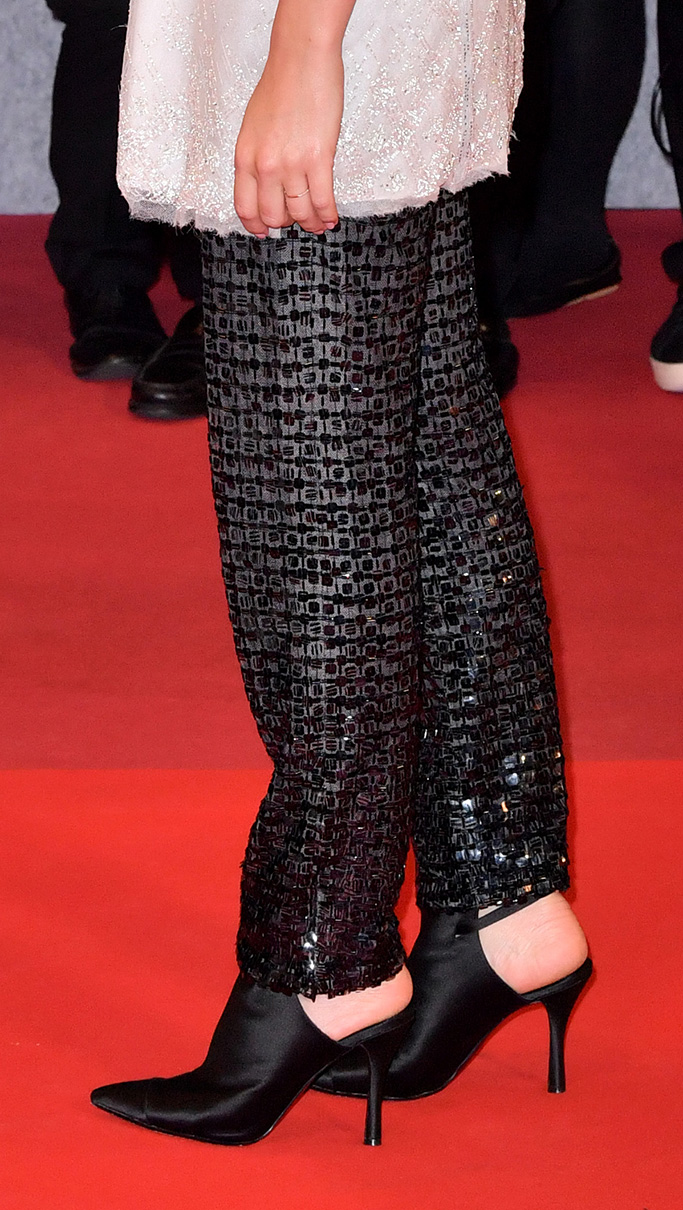Margot Robbie, chanel, haute couture mules spring 2019, 'Once Upon a Time In... Hollywood' premiere, 72nd Cannes Film Festival, France - 21 May 2019