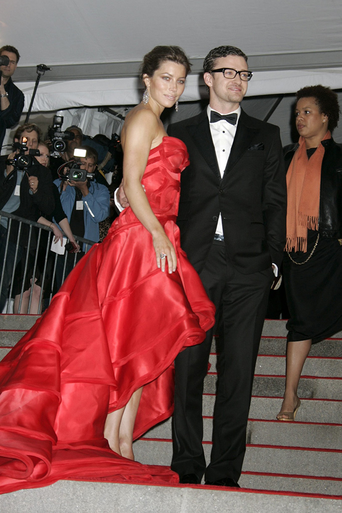 Jessica Biel and Justin Timberlake'The Model as Muse: Embodying Fashion' Benefit Gala at the Metropolitan Museum of Art Costume Institute, New York, America - 04 May 2009 Last night saw the glamorous and the glorious put on their glad rags and head down to one of the biggest events in the US fashion industry calendar – the Met Costume Institute Gala. With a theme of 'Model As Muse', the night was sponsored by Marc Jacobs who was the star guest of the evening and was accompanied by his main muse of the evening, Kate Moss. Although the number of tickets sold was down on last year, those that rebuffed the credit crunch were treated to a rich array of the most famously beautiful models in the world. Marc Jacobs dressed Kate Moss (a gold lame backless, one shouldered mini dress with a matching turban) and Victoria Beckham (a pink mini dress with black polka dots and a long train) while Louis Vuitton kitted out Madonna with a turquoise ruched mini dress with puffed skirt, thigh-high black boots, jewelled black fingerless gloves and a hair piece tied around a top knot to complete the odd 80s-inspired look.