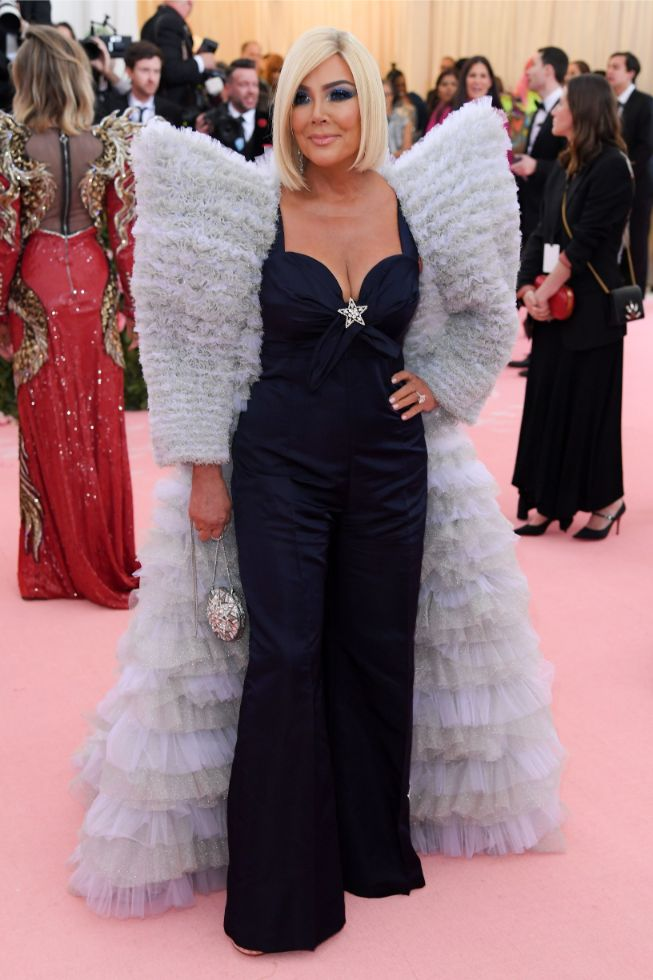 kris jenner, tommy hilfiger dress, met gala 2019