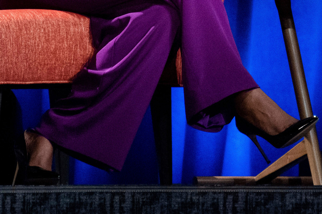 michelle obama, high heels, celebrity style, gayle king