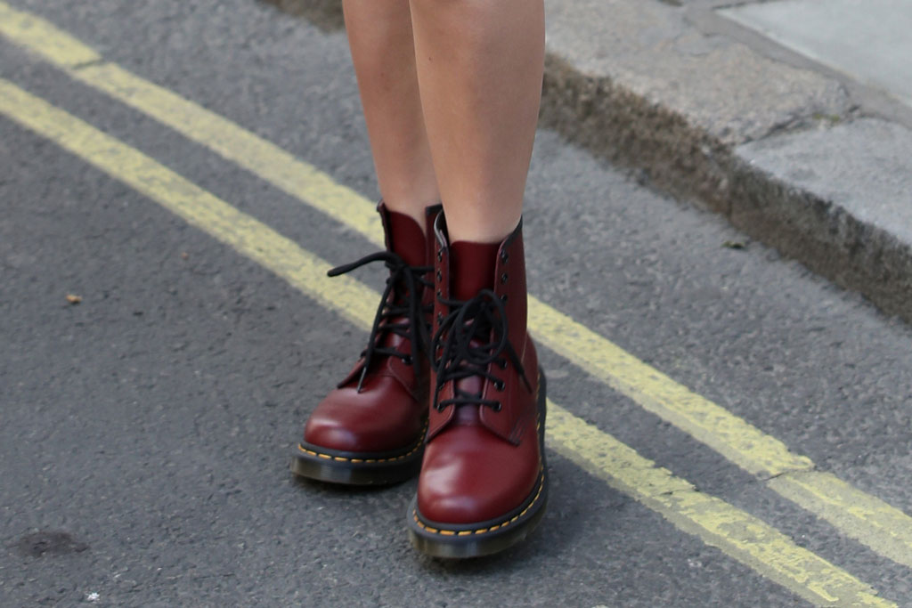 Millie Bobby Brown's Dr. Martens boots.