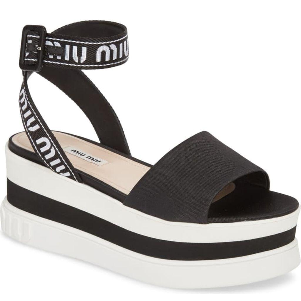 summer 2019, sandal, trend, flatform, miu miu