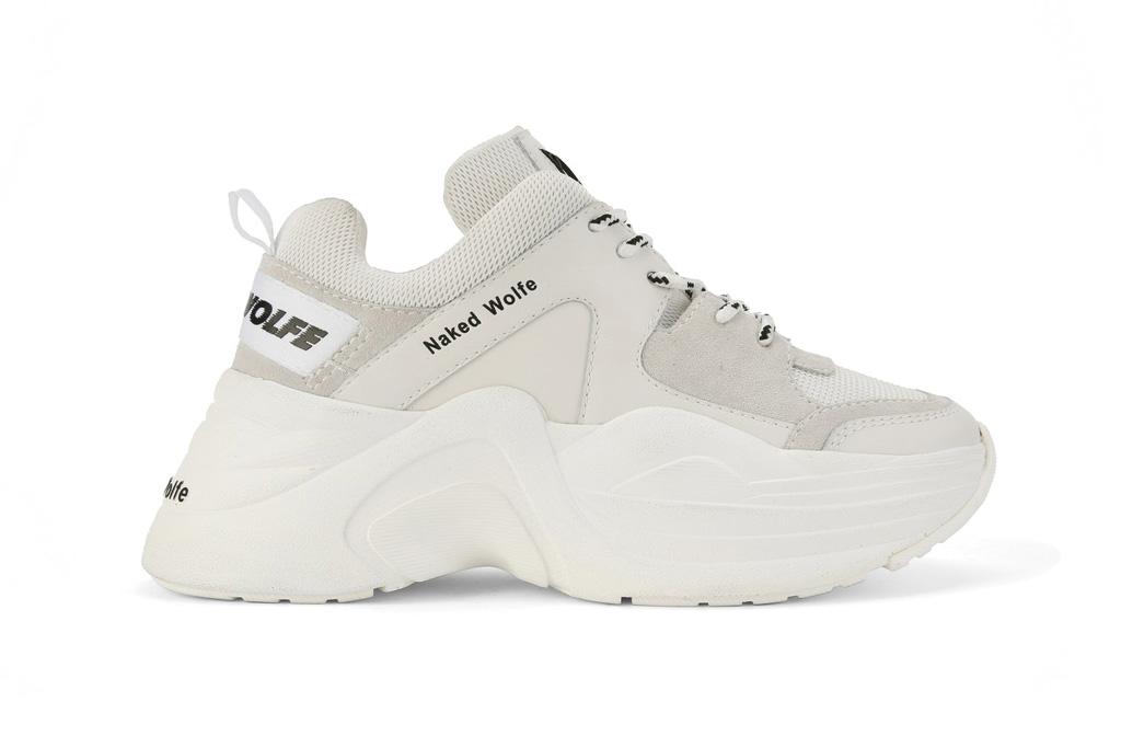 Naked Wolfe white chunky platform sneakers