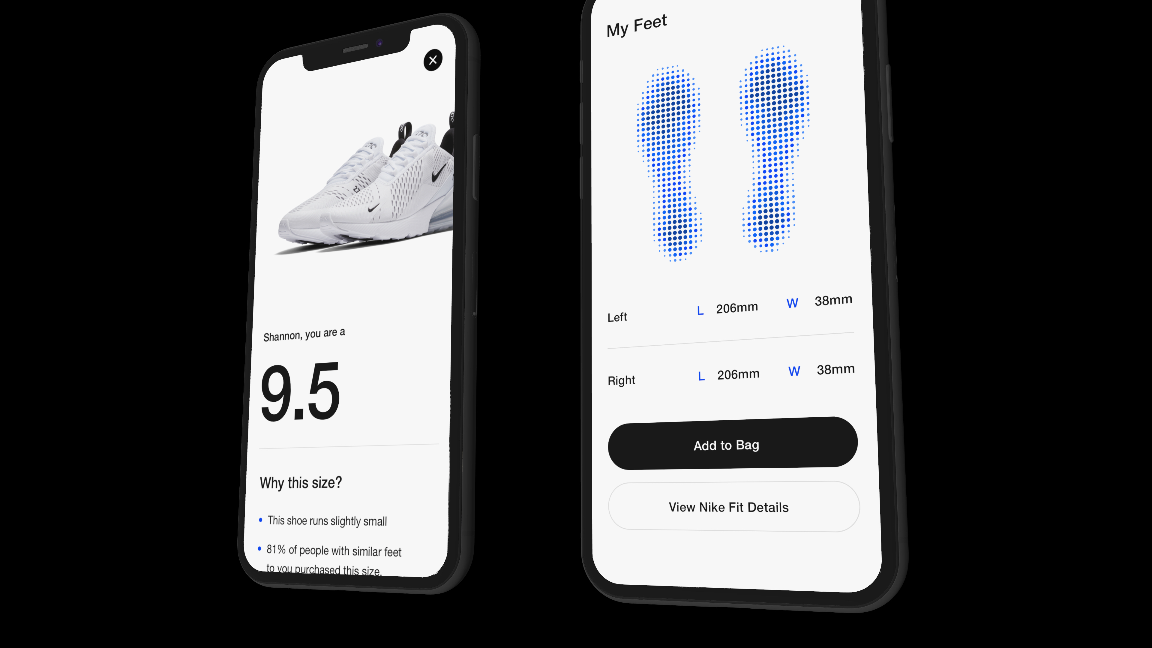 Nike fit scan technology