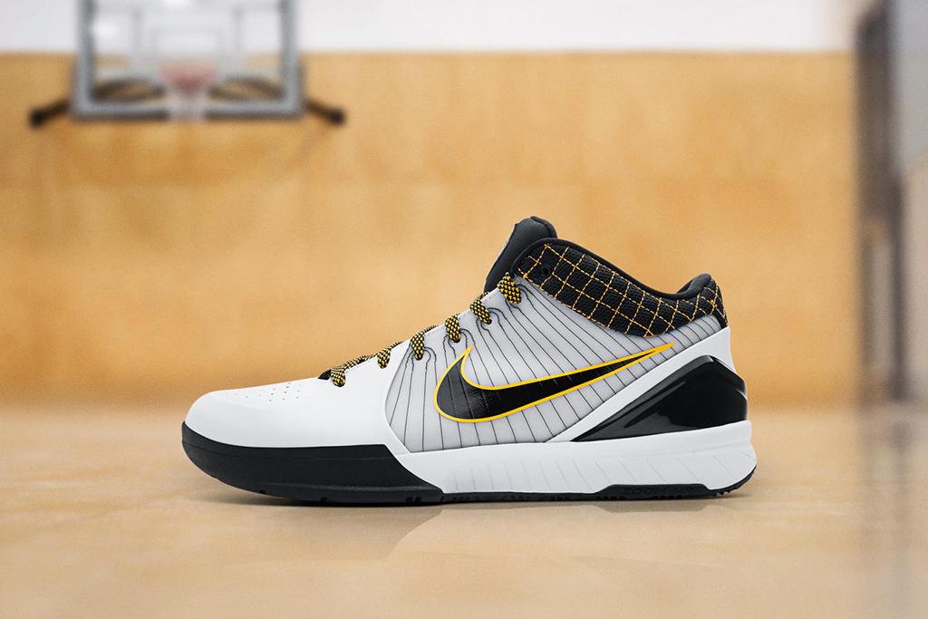 Nike Zoom Kobe 4 Protro White Black Del Sol