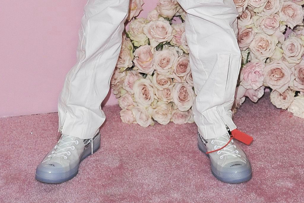 Off-White x Nike converse chuck taylor sneakers, celebrity style, james charles