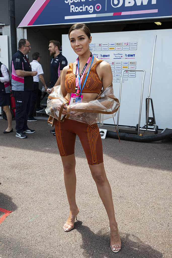 olivia culpo, fendi, crop top, bike shorts, manolo blahnik, strappy see-through sandals, celebrity style, Bob Sinclar stroll along the pit lane at the 77th Monaco Grand Prix, Monaco on May 26th, 2019. Photo by Marco Piovanotto/ABACAPRESS.COMPictured: Ref: SPL5093605 260519 NON-EXCLUSIVEPicture by: AbacaPress / SplashNews.comSplash News and PicturesLos Angeles: 310-821-2666New York: 212-619-2666London: 0207 644 7656Milan: 02 4399 8577photodesk@splashnews.comUnited Arab Emirates Rights, Australia Rights, Bahrain Rights, Canada Rights, Finland Rights, Greece Rights, India Rights, Israel Rights, South Korea Rights, New Zealand Rights, Qatar Rights, Saudi Arabia Rights, Singapore Rights, Thailand Rights, Taiwan Rights, United Kingdom Rights, United States of America RightsBob Sinclar stroll along the pit lane at the 77th Monaco Grand Prix, Monaco on May 26th, 2019. Photo by Marco Piovanotto/ABACAPRESS.COMPictured: Ref: SPL5093605 260519 NON-EXCLUSIVEPicture by: AbacaPress / SplashNews.comSplash News and PicturesLos Angeles: 310-821-2666New York: 212-619-2666London: 0207 644 7656Milan: 02 4399 8577photodesk@splashnews.comUnited Arab Emirates Rights, Australia Rights, Bahrain Rights, Canada Rights, Finland Rights, Greece Rights, India Rights, Israel Rights, South Korea Rights, New Zealand Rights, Qatar Rights, Saudi Arabia Rights, Singapore Rights, Thailand Rights, Taiwan Rights, United Kingdom Rights, United States of America Rights