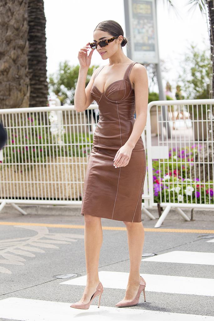 Olivia Culpo in Ermanno Scervino Leather Dress, Giuseppe Zanotti Heels –  Fitforhealth News