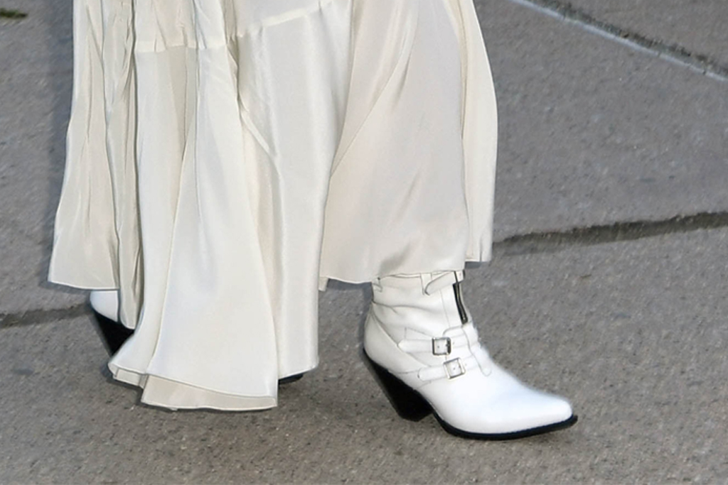 Statue of Liberty Museum opening ceremony, oprah, oprah winfrey, all-white, white shoes, white dress