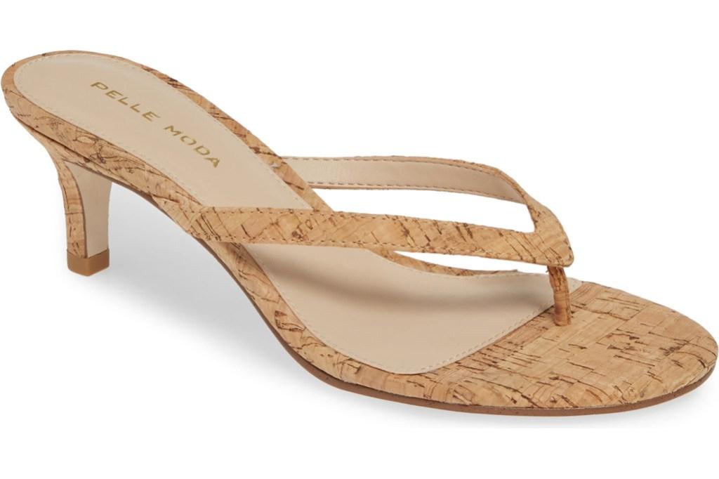 Pelle Moda Slide Sandal, flip flop heels, thong heels, summer 2019 trends