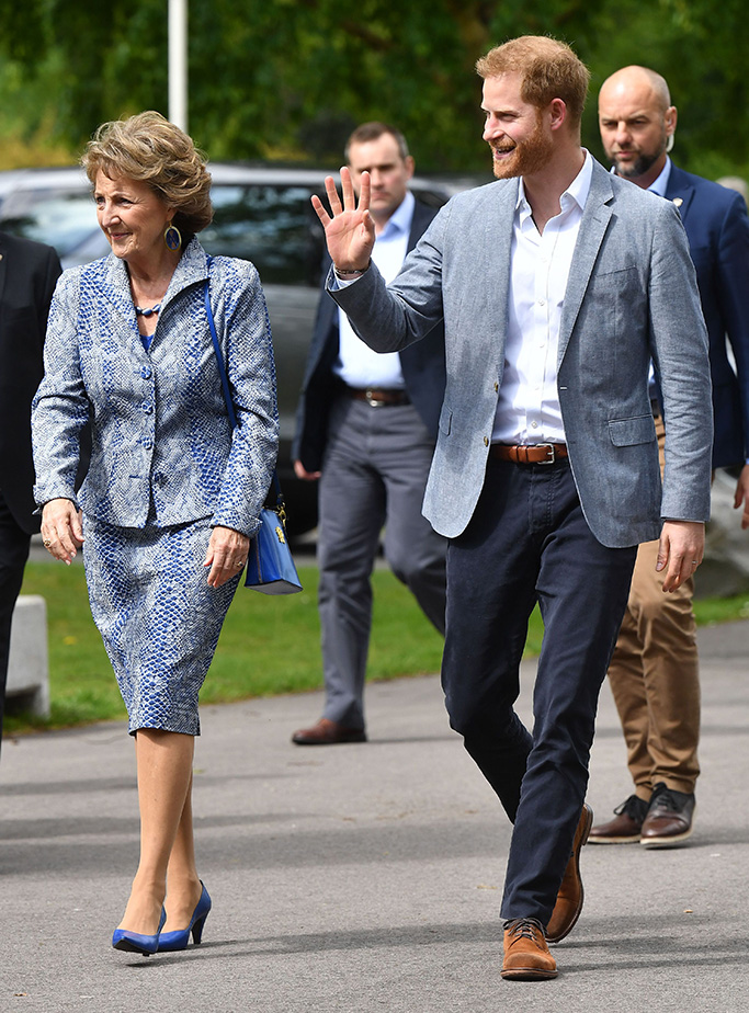 Princess Margriet and Prince Harry as he arrives in The Hague to launch Invictus Games HollandPrince Harry visit to The Hague, Netherlands - 09 May 2019
