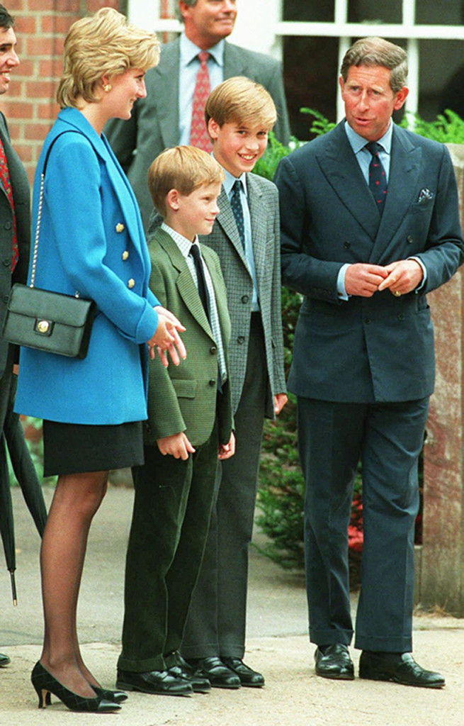 Prince William, Prince Harry, Prince Charles, Princess Diana, Mom Mules