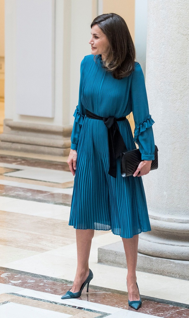 Queen Letizia, magrit heels, zara jumpsuit, celebrity style, madrid, spain,'Exceptional women: the value of an opportunity' event organized by the BBVA Microfinance Foundation, Madrid, Spain - 23 May 2019