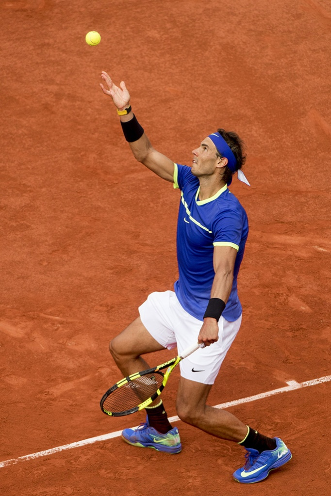 Rafael Nadal in action against Stan Wawrinka in the finalFrench Open Tennis, Day Fifteen, Roland Garros, Paris, France - 11th June 2017
