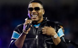 Rapper Nelly performs during the halftime