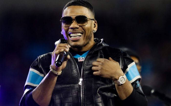 Rapper Nelly performs during the halftime showCarolina Panthers v New Orleans Saints , Bank of America Stadium, Charlotte, North Carolina , USA - 17 Dec 2018