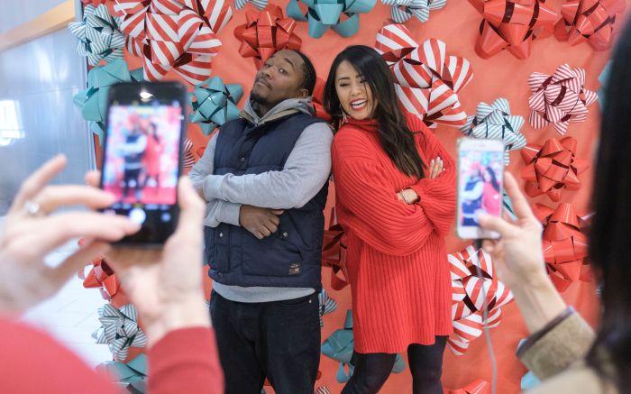 Social media influencer Sabrina Tan poses with shopper