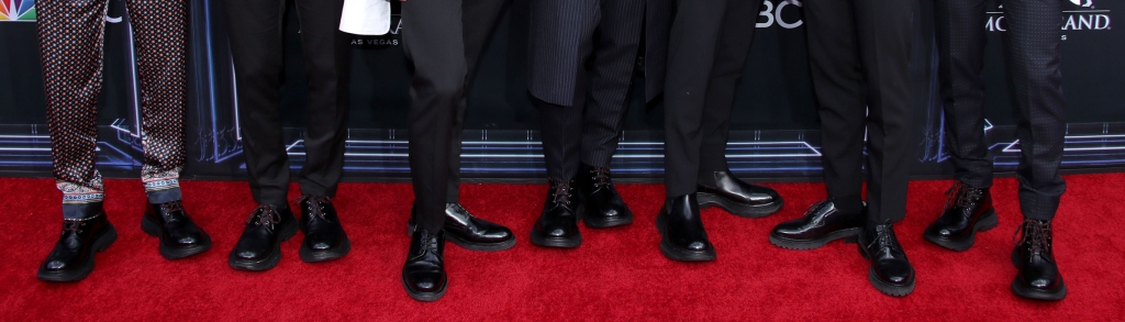 BTS Billboard Music Awards, Arrivals, MGM Grand Garden Arena, Las Vegas, USA - 01 May 2019, shoes