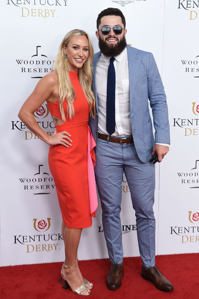 Emily Wilkinson and Baker Mayfield145th Annual Kentucky Derby, Arrivals, Churchill Downs, Louisville, Kentucky, USA - 04 May 2019